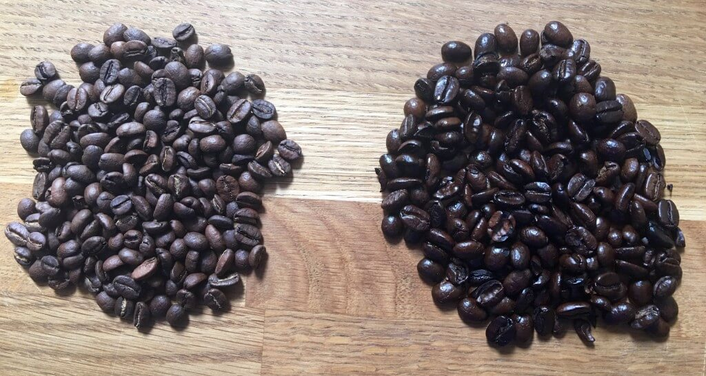 coffee beans wet
